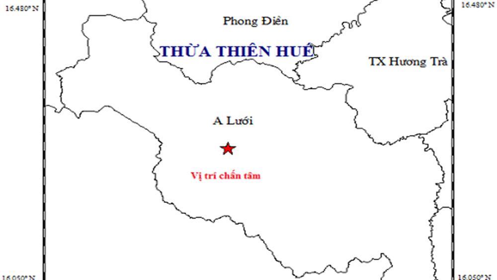 Thừa Thiên - Huế xảy ra động đất